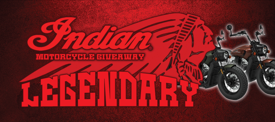 Legendary Indian Motorcycle Giveaway 500x300